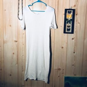 White comfy Audrey 3+1 stretchy slouchy dress